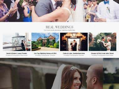 Responsive wp wedding site