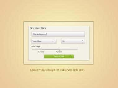 GUI kit and widget design for web and mobile apps- 1