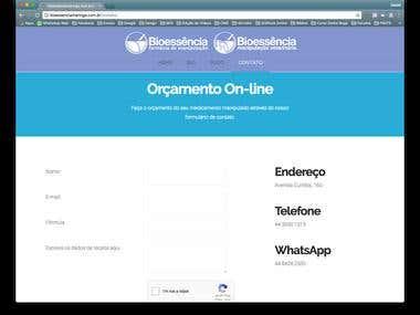 WebSite Bioessência Farmácia de Manipulação em Wordpress