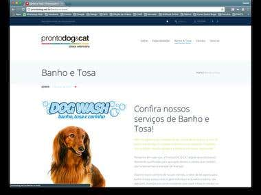WebSite ProntoDog & CAT em Wordpress