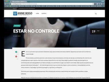 WebSite Psicóloga Anne Bogo em WordPress