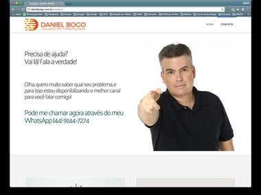 WebSite Daniel Bogo em WordPress