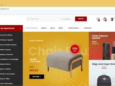 Develop eCommerce Wordpress Website