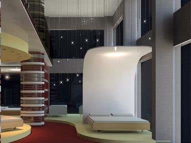 Interior Design for a Mattress Showroom