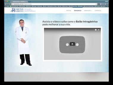 WebSite Dr. Rubens Brito em WordPress