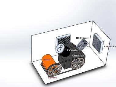 Design of reciprocating compressor using Solidworks