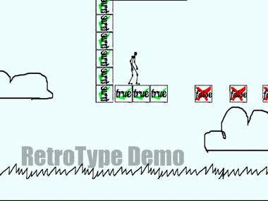 2D Sidescroller Game Demo 1 By RetroType