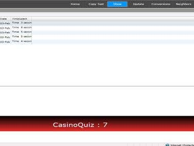 Casino Website in Silver light