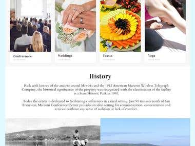 Responsive web portfolio