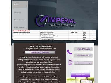 SEO project - imperialcourtreporting.com