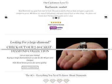 E-Commerce: Magento website