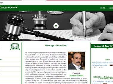 MIS and web portal for district bar Association