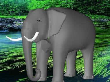 An Elephant/3d Modeling