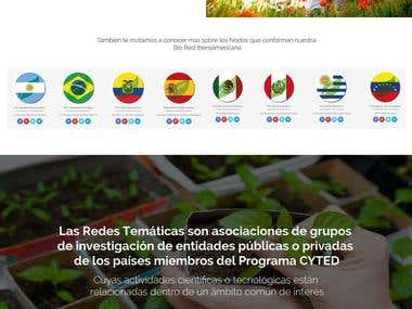 Mockup Web site for Bio Red Iberoamericana