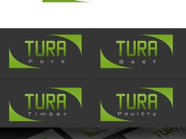 Logo design for Tura Group with corporate identity