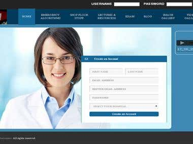 This is a online exam site for doctors.