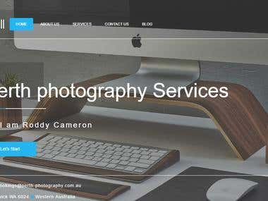 Create Photograpy  Website