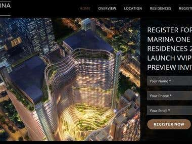MARINA ONE Residence Website