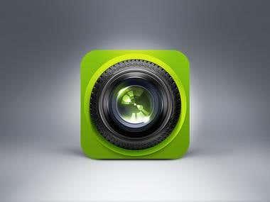 Lens Icon design