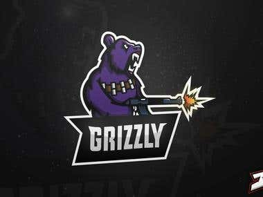 """Grizzly"" Mascot Logo Design"