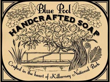 Logo/Label/Packaging Design : Blue Pool Handcrafted Soap
