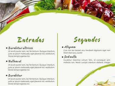 Diseño de carta de menú 2