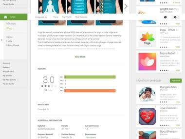 Android App for Yoga Excercise