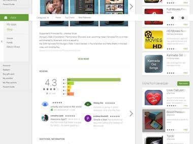 Android Mobile App for South Indian Movies