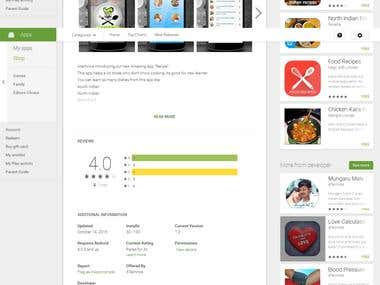 Android Mobile Application for the Recipe