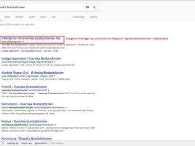 SEO Project Google.se - http://www.sbfbostad.se/