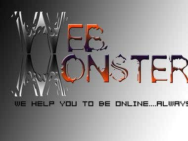 New Look of Web Monster Logo.