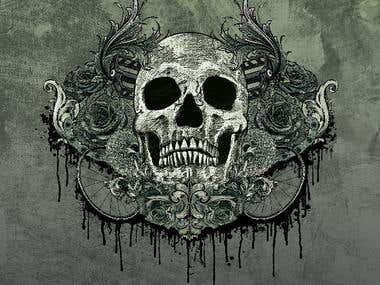 Skull Bike Design