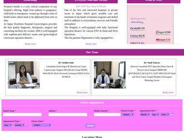 Hospital Website (www.jaipurdoorbeenhospital.com)