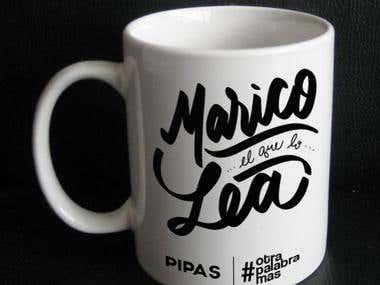 Diseño de lettering para tazas