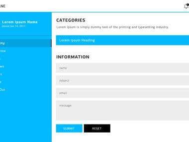 Admin page PSD design