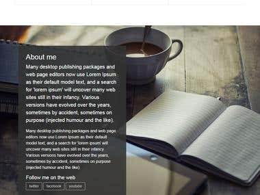 Bootstrap 4 responsive web site