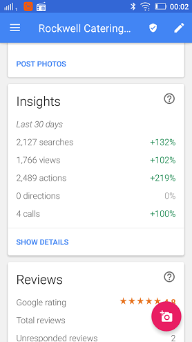 Improvement in search traffic within 30 days