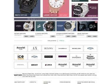 Online Watch Store
