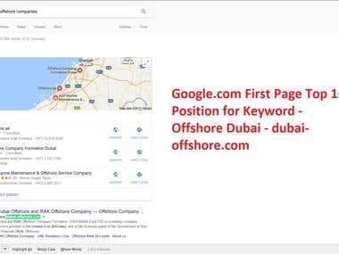 SEO project -url - http://www.dubai-offshore.com/