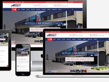 AUTO21 CAR SERVICE - web development - web design - wordpres