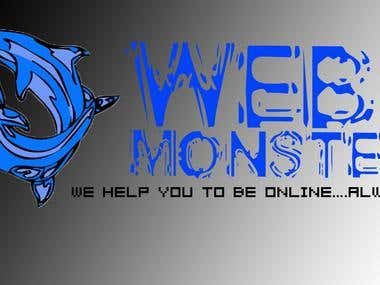 Old Look of Web Monster Logo.