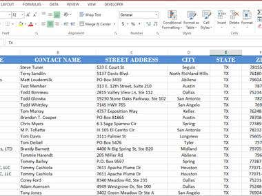 Capture data from website & insert into an Excel sheet
