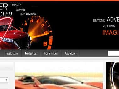 This is a online automobile service site.
