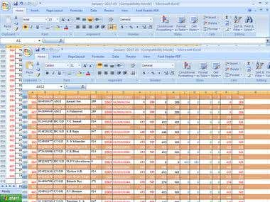 any type of excel work