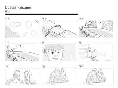 Storyboarding - Hand-drawn illustrations