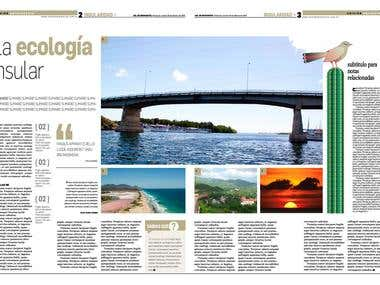 Editorial Design, anniversary edition Diario Sol de Margarit