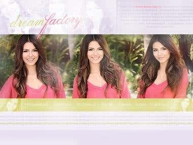 Victoria Justice Website Banner/Logo/Header
