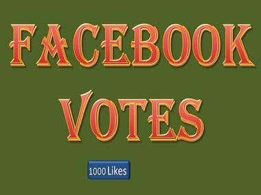 Facebook Votes for Contest