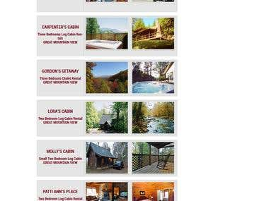 Alans Mountain Rental Booking Website