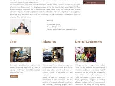 Developed Organization Website